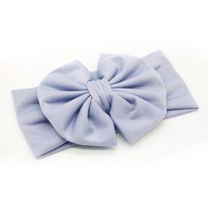 NEW baby toddler big bow gray headband